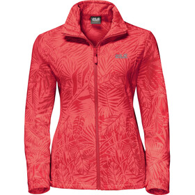 Jack Wolfskin Kiruna Jungle Jacket Women tulip red all over